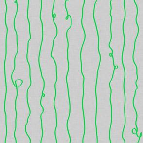 drunken lines green