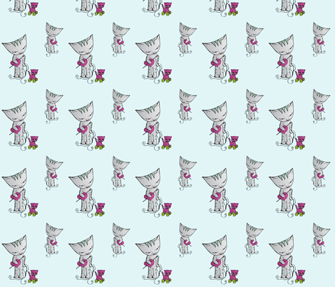 Percy The Cat fabric by miss_ella on Spoonflower - custom fabric