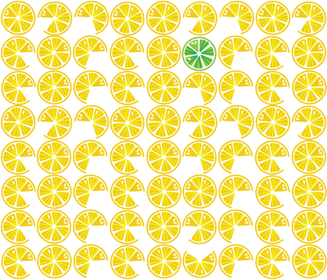 Lemon Lime fabric by kfay on Spoonflower - custom fabric