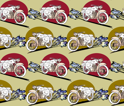 gobike fabric by riztyd on Spoonflower - custom fabric
