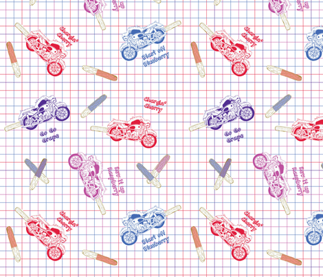 moto-sicles! fabric by circlesandsticks on Spoonflower - custom fabric