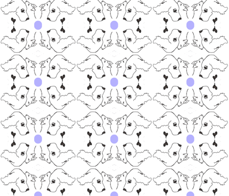 CATS N DOGS periwinkle dot-ed fabric by cfishdesign on Spoonflower - custom fabric