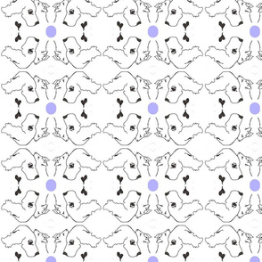 CATS N DOGS periwinkle dot-ed