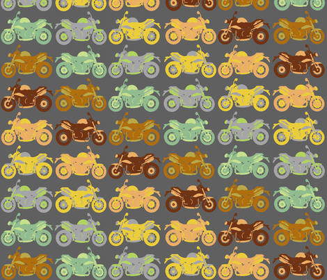 Motorbike medley - diagonal fabric by uzumakijo on Spoonflower - custom fabric