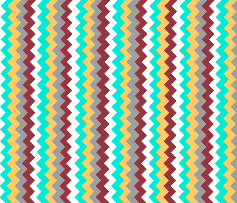 Sonoran Chevron fabric by nestahome on Spoonflower - custom fabric