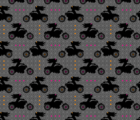 Motorcycle Mamas fabric by dianef on Spoonflower - custom fabric