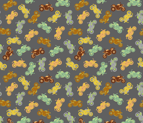 Motorbike Medley - small fabric by uzumakijo on Spoonflower - custom fabric