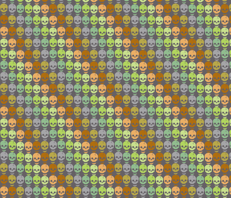 Happy Skulls - diagonal small fabric by uzumakijo on Spoonflower - custom fabric