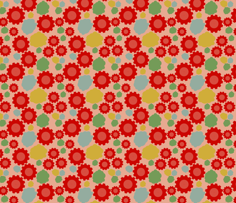 Smoke and Gears  fabric by kimannjac on Spoonflower - custom fabric