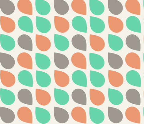 retro drop green fabric by myracle on Spoonflower - custom fabric
