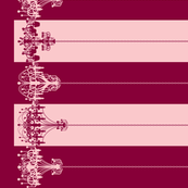 Chandelier Border Stripes in Raspberry