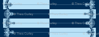 Chandelier Border Stripes in Blueberry