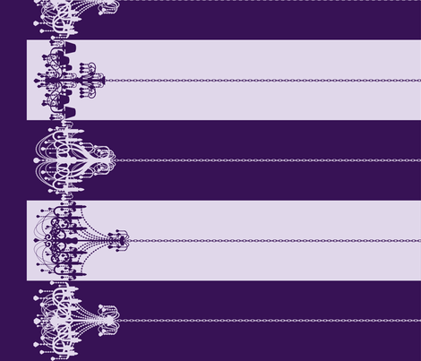 Chandelier Border Stripes in Grape fabric by charmcitycurios on Spoonflower - custom fabric