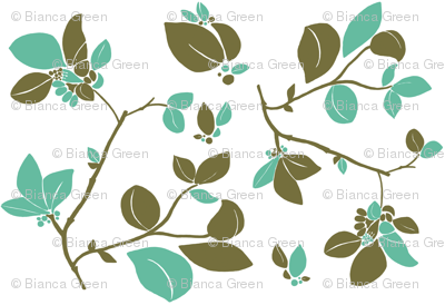 Blooming (green turquois)