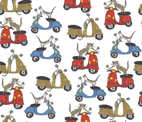 ciao_kitties_ fabric by cinqchats on Spoonflower - custom fabric