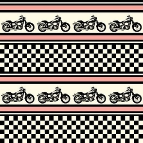 Motorcycle Checks and Stripes