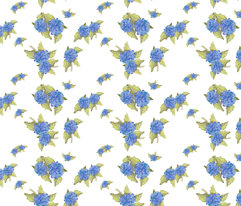 Hydrangea Ditsy fabric by aftermyart on Spoonflower - custom fabric