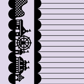 Carnival Border in Black on Lilac