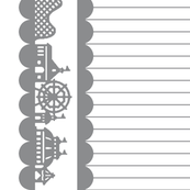 Carnival Border in Gray on White