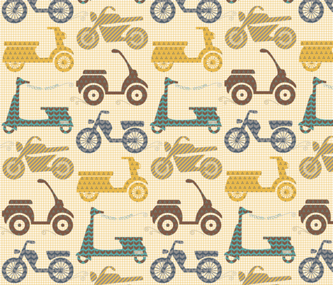 vroom - vroom... fabric by natasha_k_ on Spoonflower - custom fabric