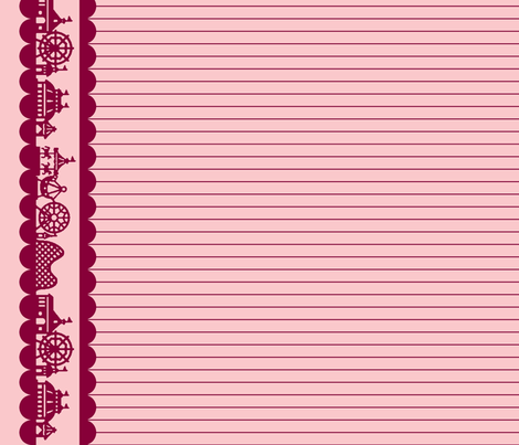 Carnival Border in Raspberry fabric by charmcitycurios on Spoonflower - custom fabric