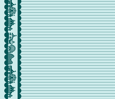 Carnival Border in Teal-Mint fabric by charmcitycurios on Spoonflower - custom fabric