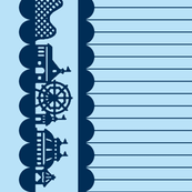 Carnival Border in Blueberry