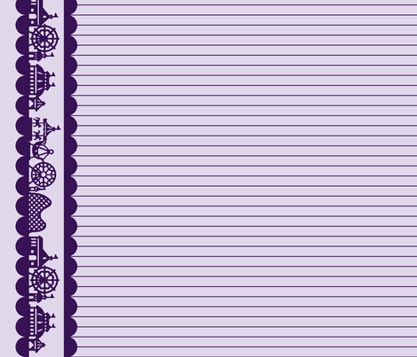 Carnival Border in Grape fabric by charmcitycurios on Spoonflower - custom fabric