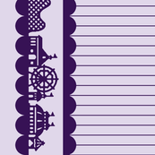 Carnival Border in Grape