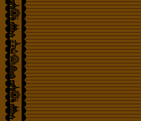 Carnival Border in Coffee