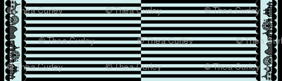 Carnival Border with Stripes in Black on Mint