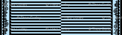 Carnival Border with Stripes in Black on Light Blue