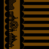 Carnival Border with Stripes in Coffee