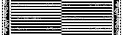 Carnival Border with Stripes in White on Black