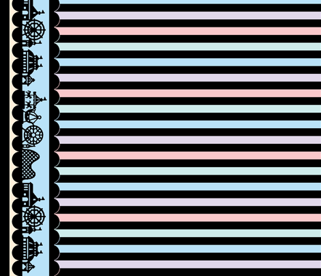 Carnival Border with Stripes in Candy Store fabric by charmcitycurios on Spoonflower - custom fabric