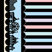Carnival Border with Stripes in Candy Store