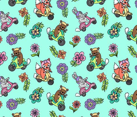 Sunday Ride fabric by my_zoetrope on Spoonflower - custom fabric