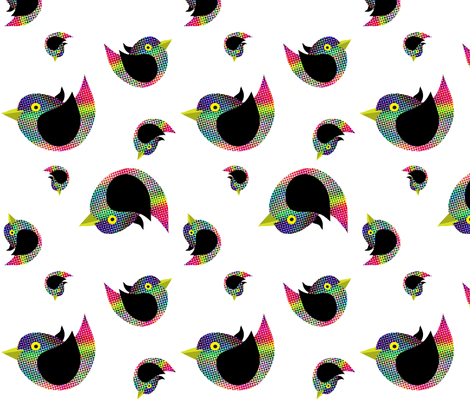 80s_birds fabric by wendyg on Spoonflower - custom fabric