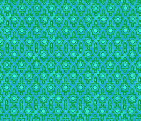 Marakesh green/blue fabric by ispy on Spoonflower - custom fabric