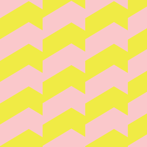 Broken Chevron Yellow & Pink fabric by stoflab on Spoonflower - custom fabric