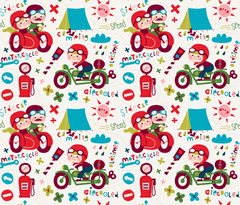 Good old time! fabric by bora on Spoonflower - custom fabric