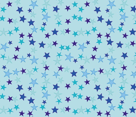 Blue Stars fabric by animotaxis on Spoonflower - custom fabric