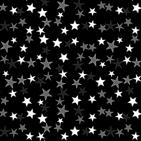Simple Stars 3 fabric by animotaxis on Spoonflower - custom fabric