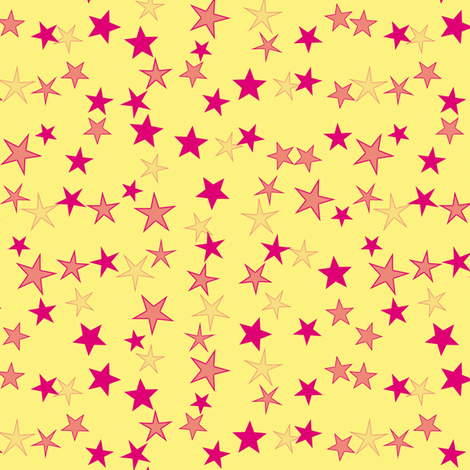 Simple Stars 4 fabric by animotaxis on Spoonflower - custom fabric