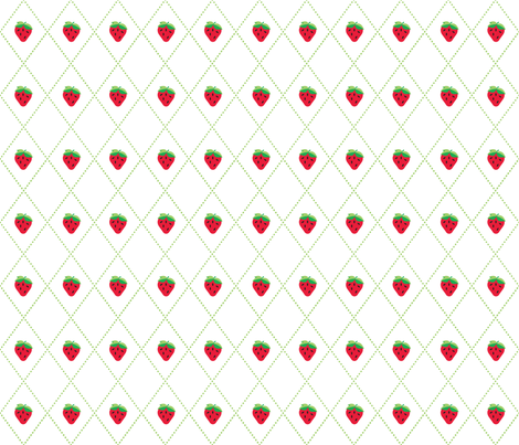 Strawberry Argyle fabric by kfay on Spoonflower - custom fabric