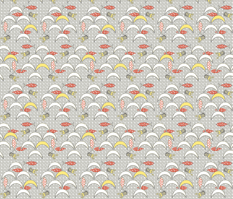 Ebisu's Trellis fabric by lulabelle on Spoonflower - custom fabric