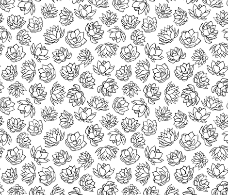 LOTUS fabric by jara_by_jacki on Spoonflower - custom fabric
