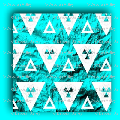 White Triangles on Blue