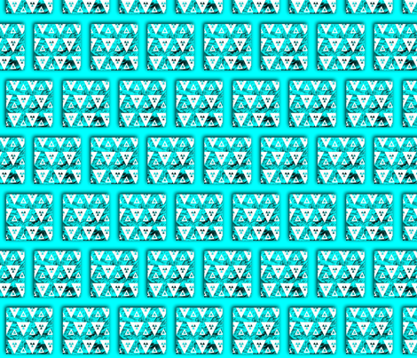White Triangles on Blue fabric by anniedeb on Spoonflower - custom fabric