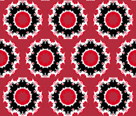 Wagon Wheels on Fire fabric by anniedeb on Spoonflower - custom fabric